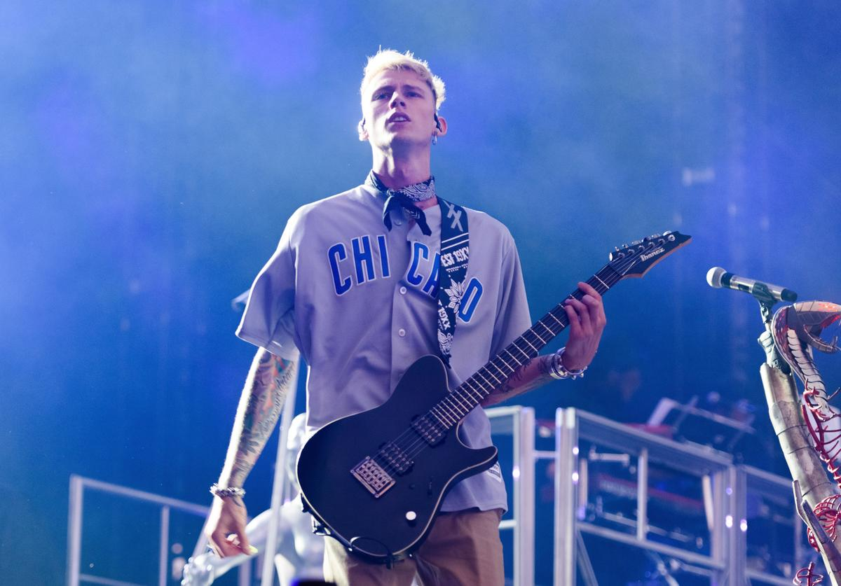 Machine Gun Kelly performs at Fall Out Boy concert.