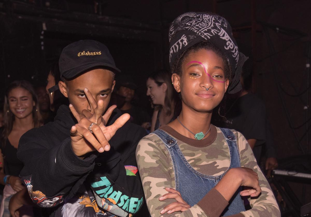 Jaden and Willow Smith at the Fonda Theatre.