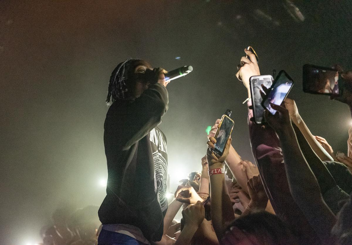 Yung Bans performs live in the security pit during the Northsbest Festival at the Showbox SoDo on April 27, 2019 in Seattle, Washington