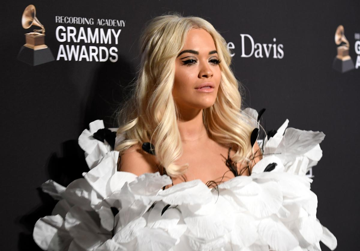 Rita Ora attends the Pre-GRAMMY Gala and GRAMMY Salute to Industry Icons Honoring Clarence Avant at The Beverly Hilton Hotel on February 9, 2019 in Beverly Hills, California