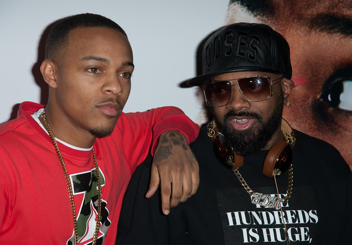 """Bow Wow (L) and producer Jermaine Dupri attend the """"Ride Along"""" screening at AMC Loews Lincoln Square on January 15, 2014 in New York City"""