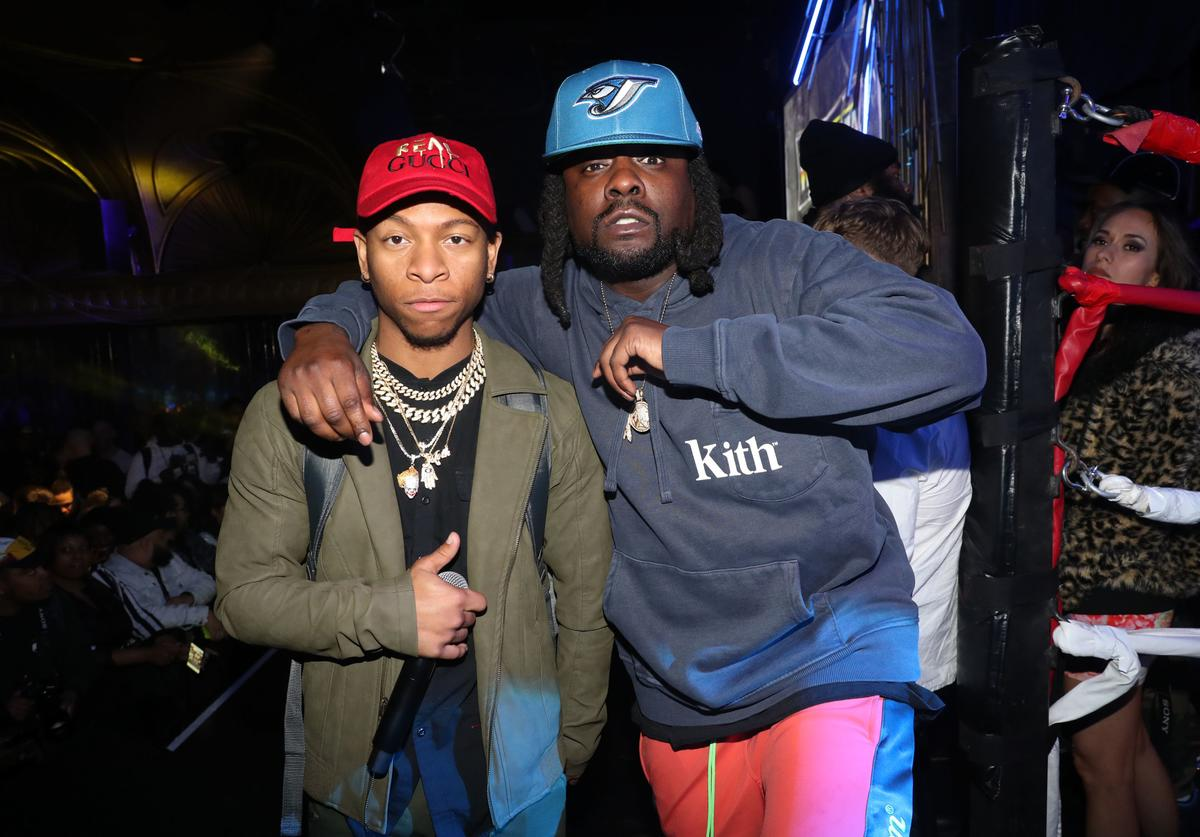 Lio Rush (L) and Wale attend Wale's 5th Annual WaleMania at Sony Hall on April 4, 2019 in New York City.