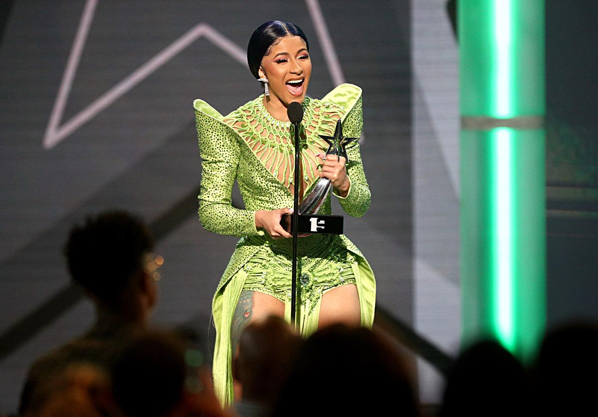 Cardi B accepts the Album of the Year award for 'Invasion of Privacy' onstage at the 2019 BET Awards at Microsoft Theater on June 23, 2019 in Los Angeles, California