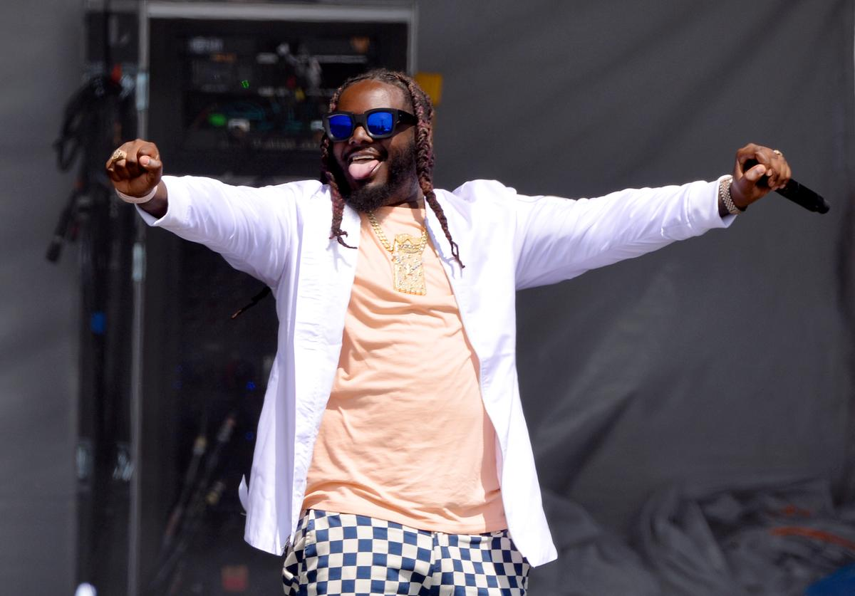T-Pain performs onstage during Nickelodeon's Second Annual SlimeFest at Huntington Bank Pavilion on June 08, 2019 in Chicago, Illinois.