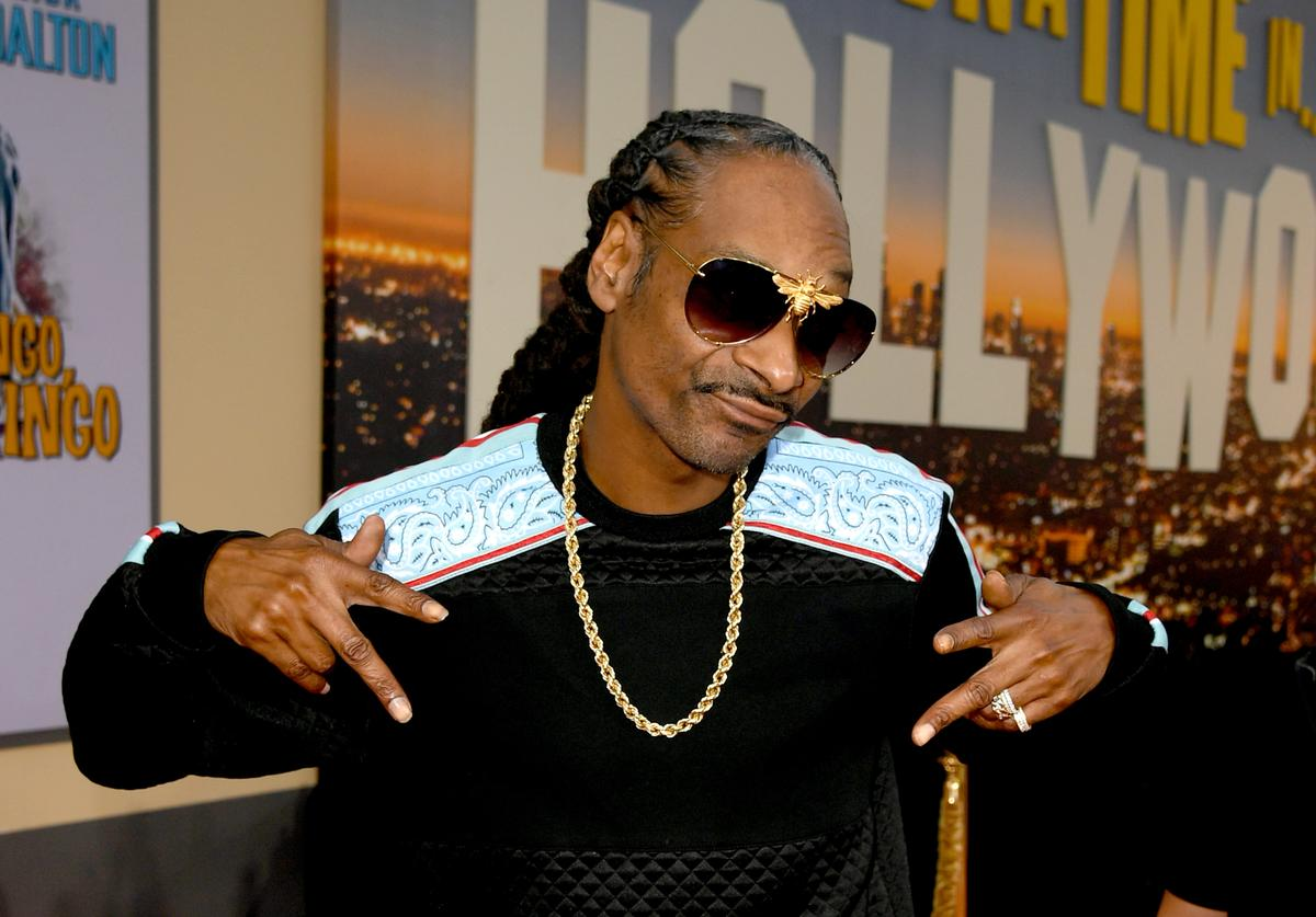 "Snoop Dogg arrives at the premiere of Sony Pictures' ""One Upon A Time...In Hollywood"" at the Chinese Theatre on July 22, 2019 in Hollywood, California"