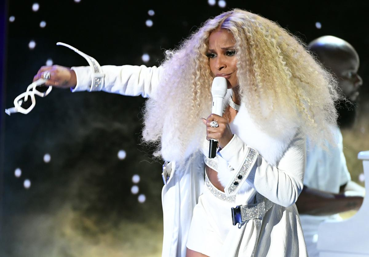 Mary J. Blige performs onstage at the 2019 BET Awards.