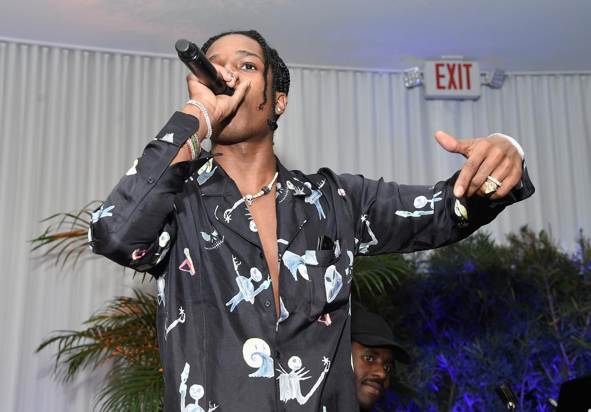 A$AP Rocky attends the Artsy Projects Miami x Gucci: Special Thanks to Bombay Sapphire at The Bath Club on December 6, 2017 in Miami Beach, Florida