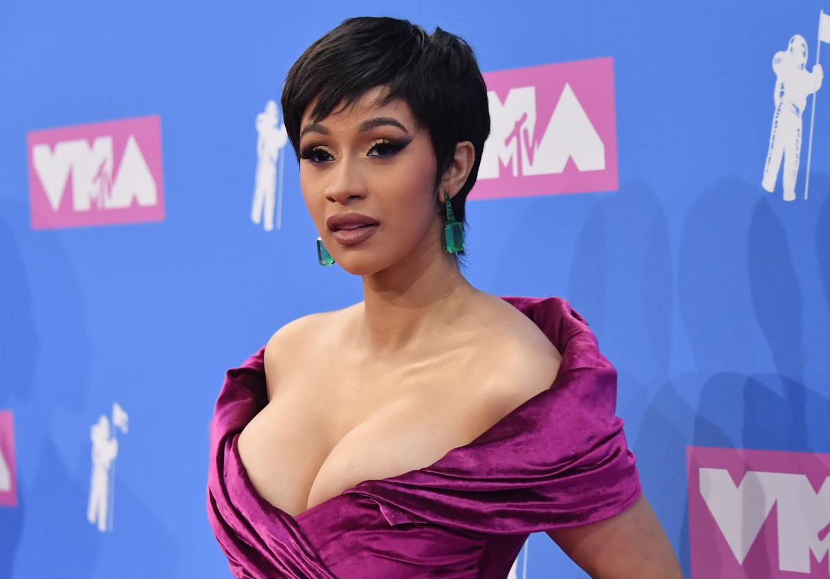 Cardi B attends the 2018 MTV Video Music Awards at Radio City Music Hall on August 20, 2018 in New York City.
