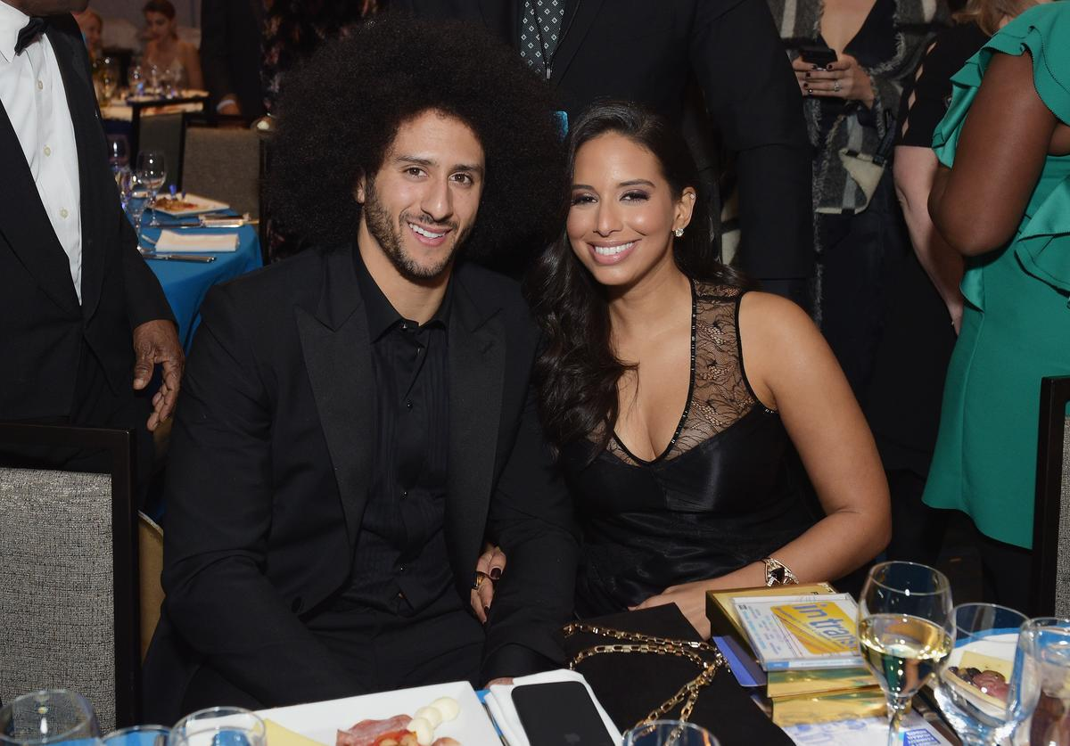 Colin Kaepernick (L) and Nessa attend Robert F. Kennedy Human Rights Hosts Annual Ripple Of Hope Awards Dinner on December 13, 2017 in New York City.