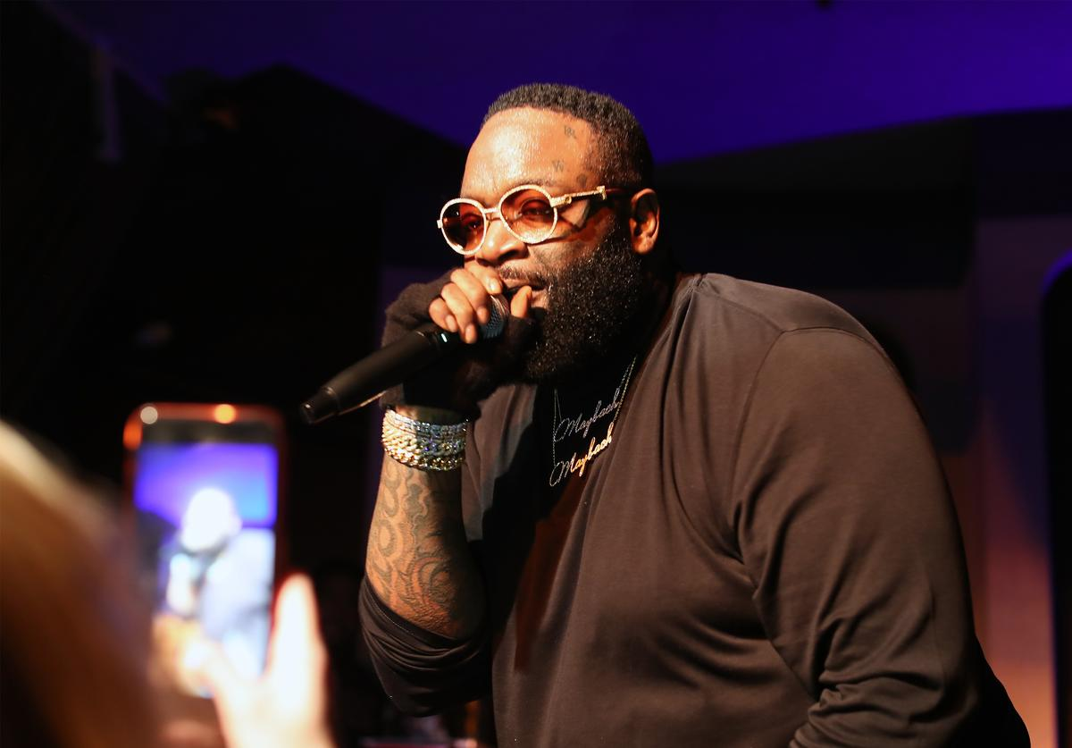Rick Ross performs at LiveXLive Post Grammy Party at The Peppermint Club on February 10, 2019 in Los Angeles, California