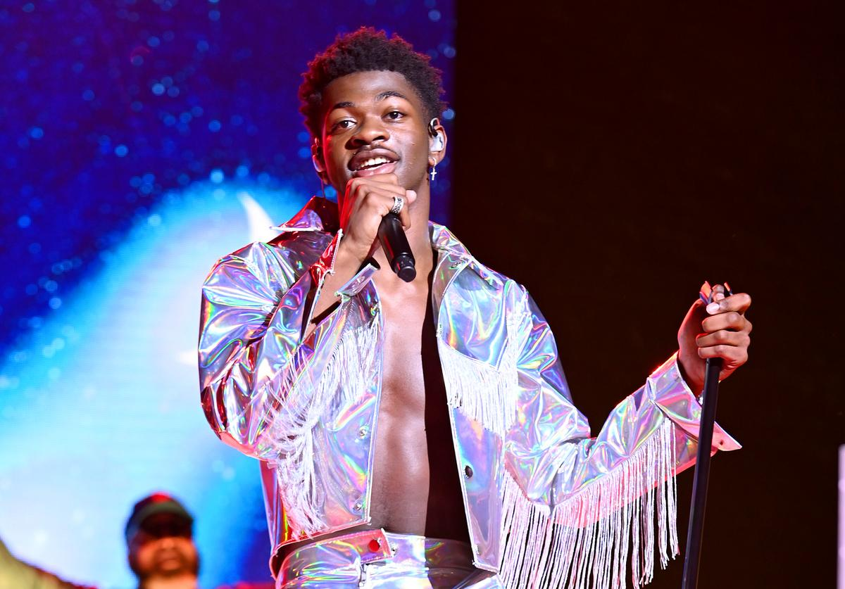 Lil Nas X performs on stage during Internet Live By BuzzFeed