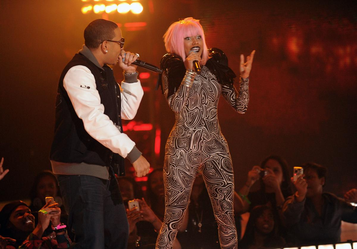 Nikki Minaj and Ludacris performs onstage BET's Rip The Runway 2010 at the Hammerstein Ballroom on February 27, 2010 in New York City.