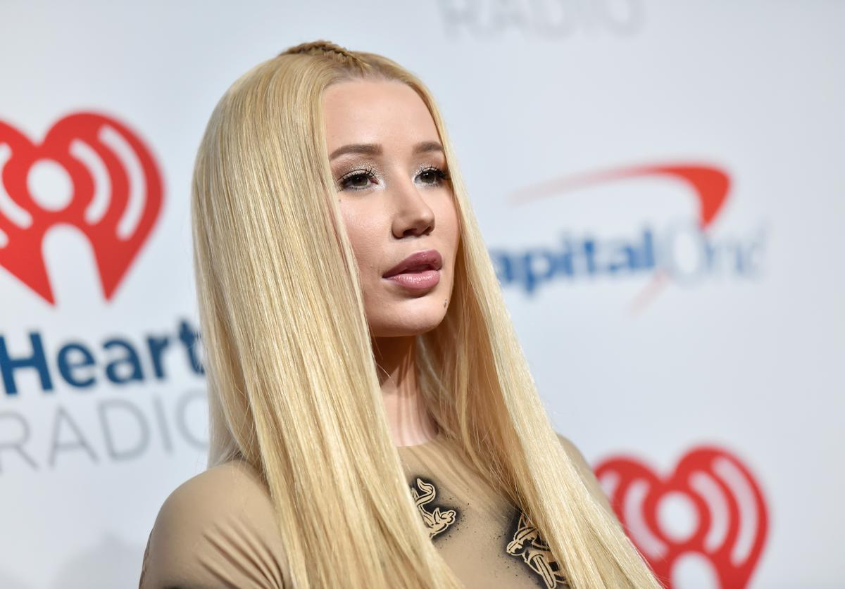 Iggy Azalea poses in the press room during the iHeartRadio Music Festival at T-Mobile Arena on September 21, 2018 in Las Vegas, Nevada.