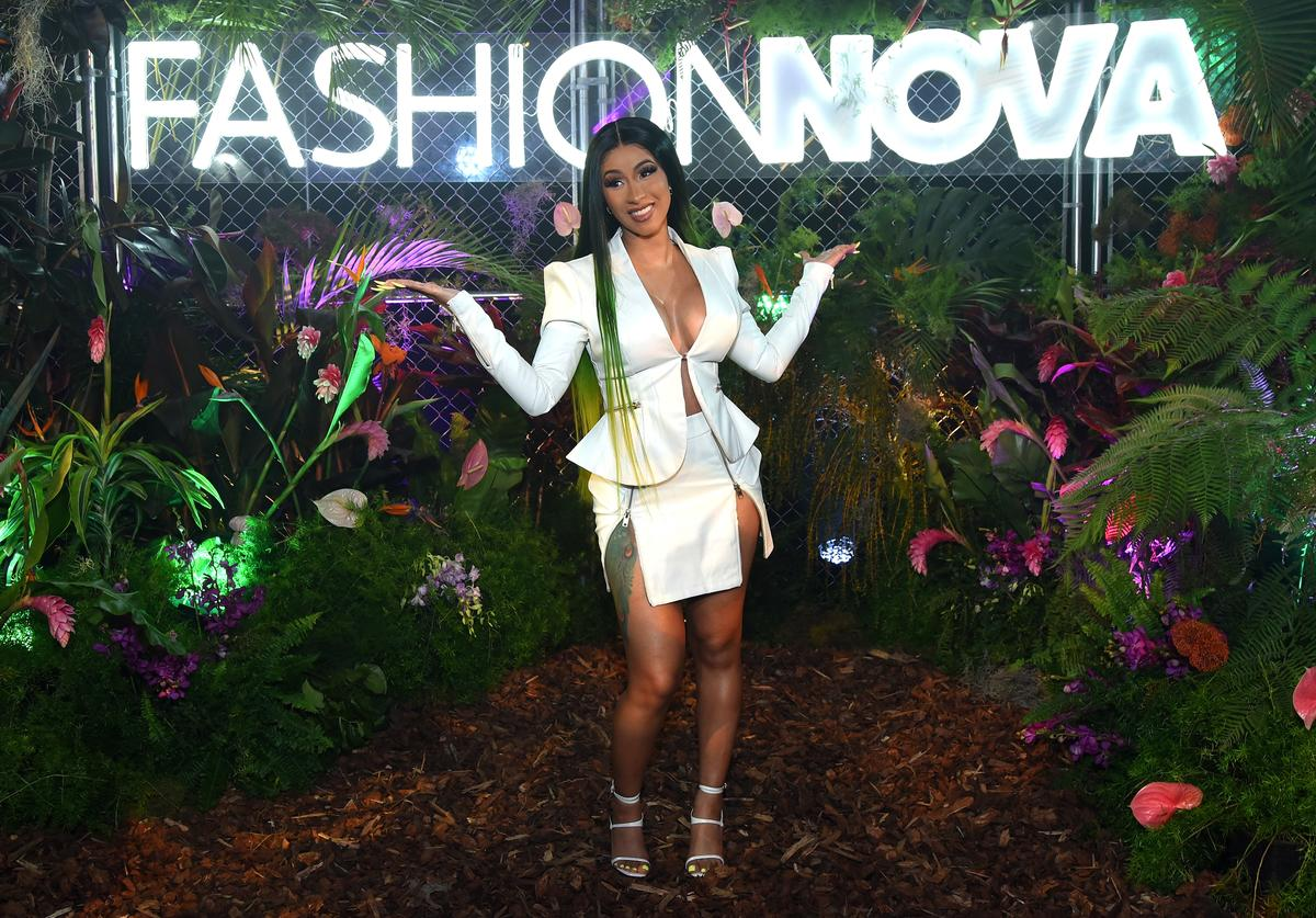 Cardi B is seen as Fashion Nova Presents: Party With Cardi at Hollywood Palladium on May 8, 2019 in Los Angeles, California