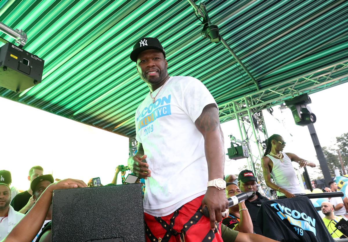 50 Cent hosts the Tycoon Pool Party at Bar Code on August 18, 2019 in Elizabeth, New Jersey