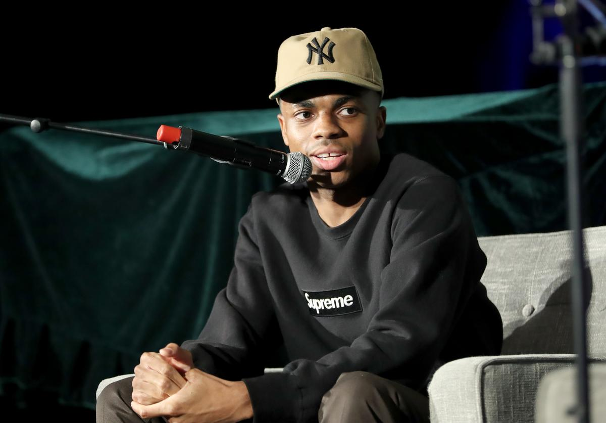 Vince Staples speaks onstage during Capitol Music Group's 6th annual Capitol Congress