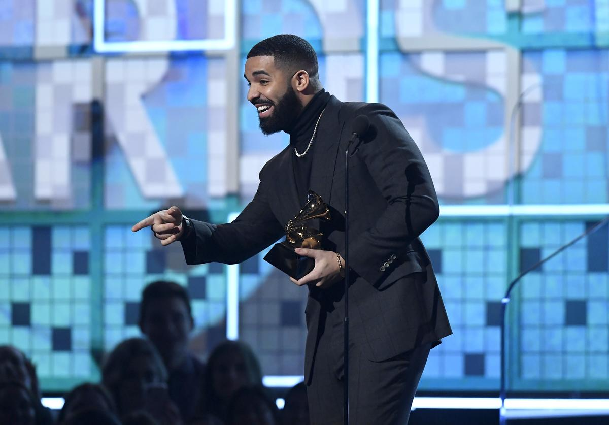 Drake accepts Best Rap Song for 'God's Plan' onstage during the 61st Annual GRAMMY Awards at Staples Center on February 10, 2019 in Los Angeles, California