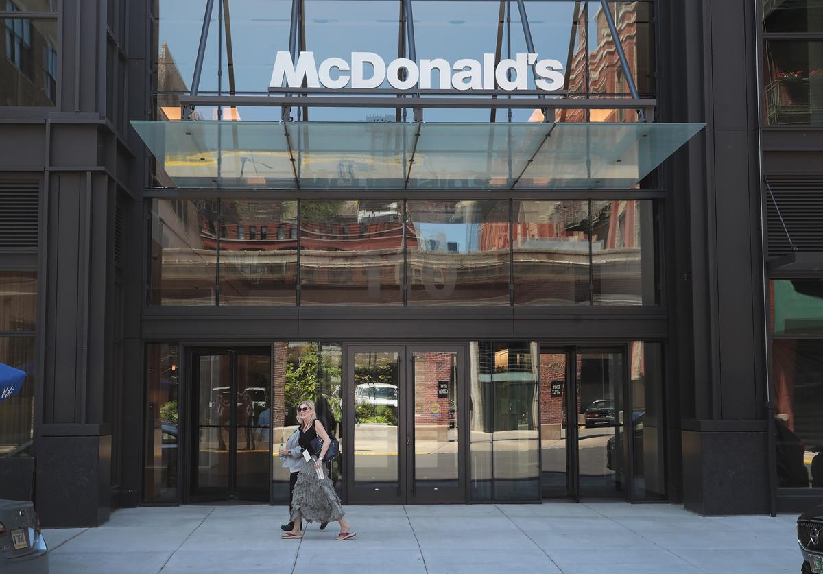 McDonald's unveils the company's new corporate headquarters during a grand opening ceremony on June 4, 2018 in Chicago, Illinois. The company headquarters is returning to the city, which it left in 1971, from suburban Oak Brook. Approximately 2,000 people will work from the building.