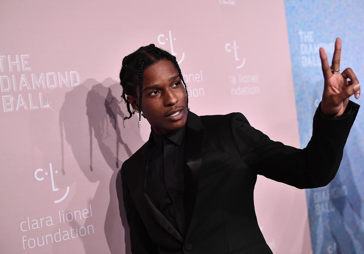 ASAP Rocky attends Rihanna's 4th Annual Diamond Ball benefitting The Clara Lionel Foundation at Cipriani Wall Street on September 13, 2018 in New York City.