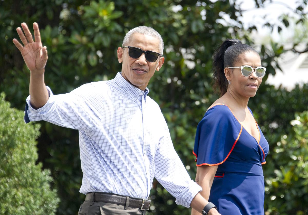The Obamas at Martha's Vineyard.