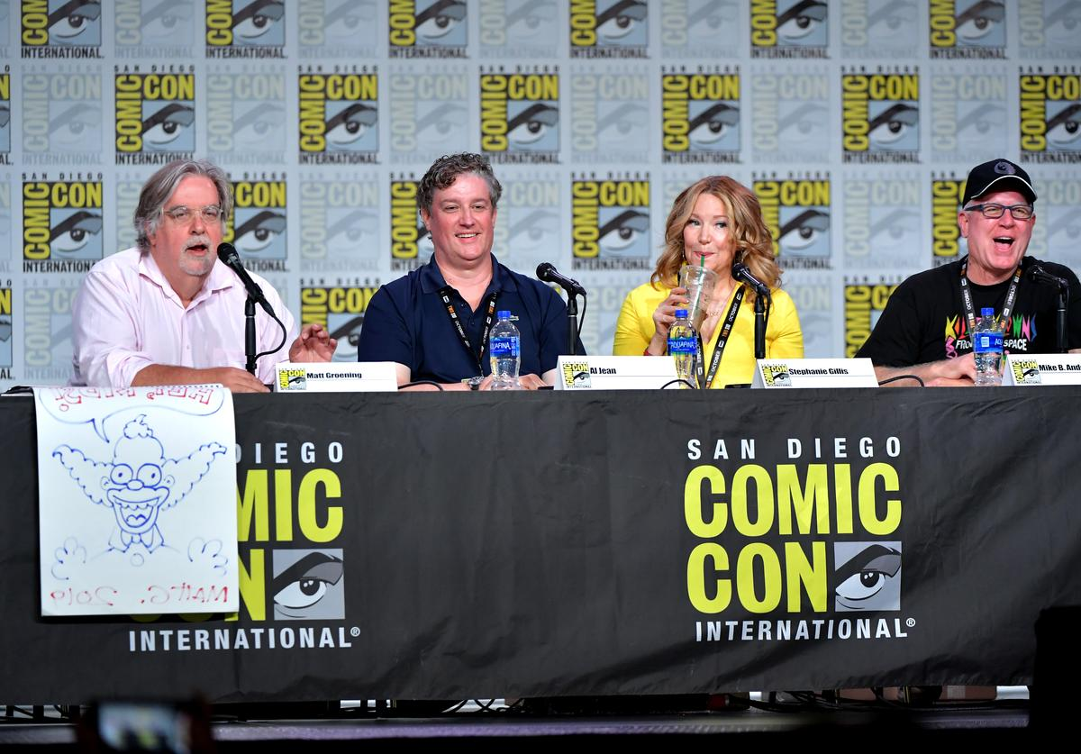 """""""The Simpsons"""" panel at Comic-Con 2019."""