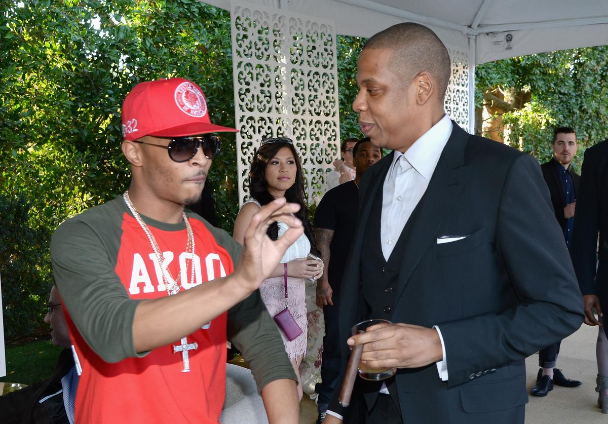 T.I. and Jay-Z At Pre-Grammy Brunch.