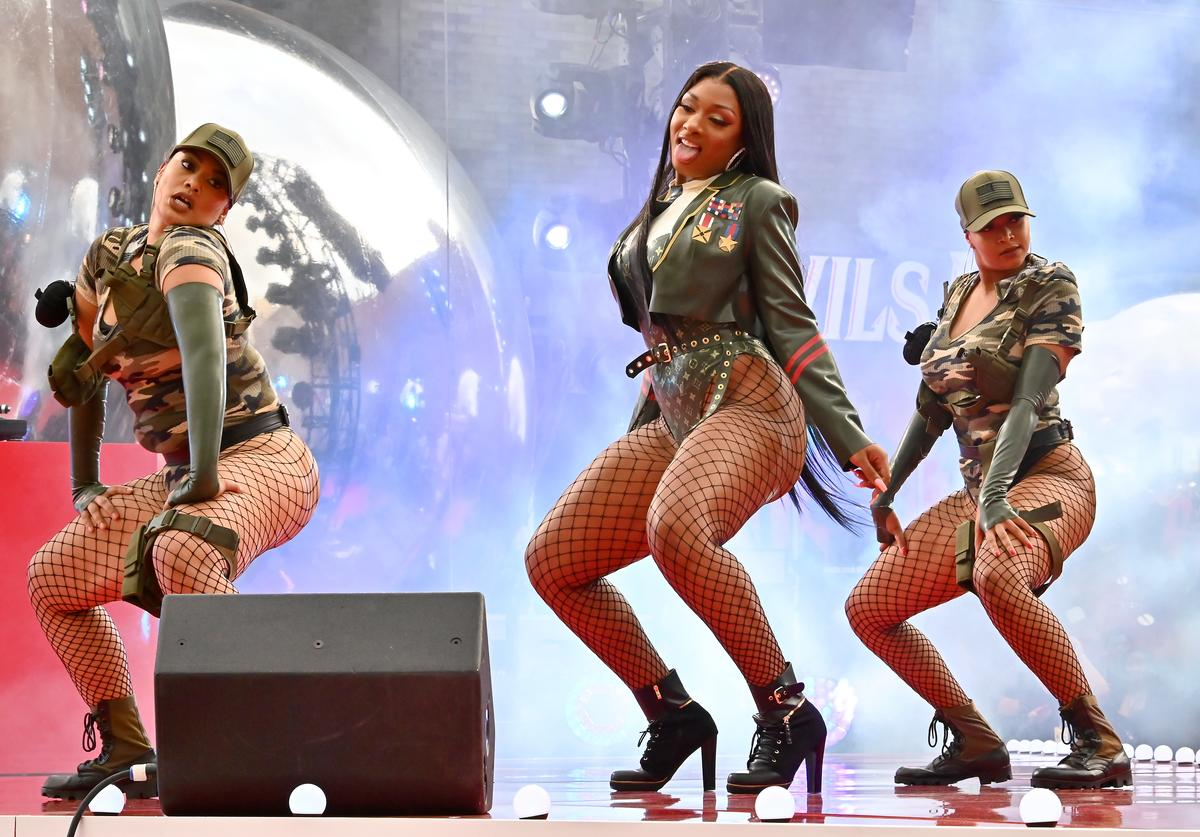 Megan Thee Stallion performs onstage during the 2019 MTV Video Music Awards at Prudential Center on August 26, 2019 in Newark, New Jersey.