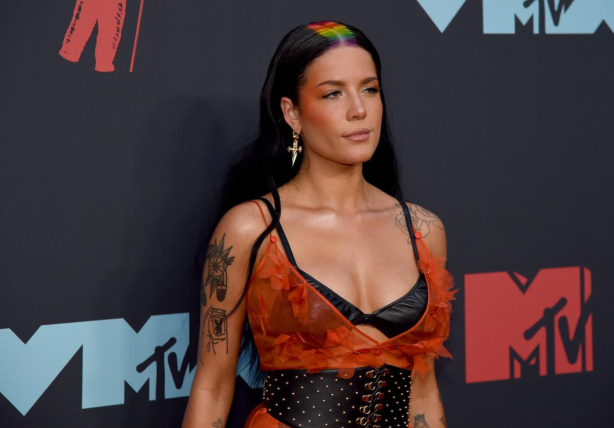 Halsey attends the 2019 MTV Video Music Awards at Prudential Center on August 26, 2019 in Newark, New Jersey