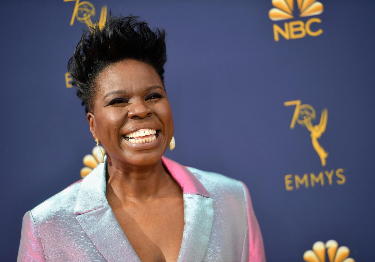 Leslie Jones at the Emmys.