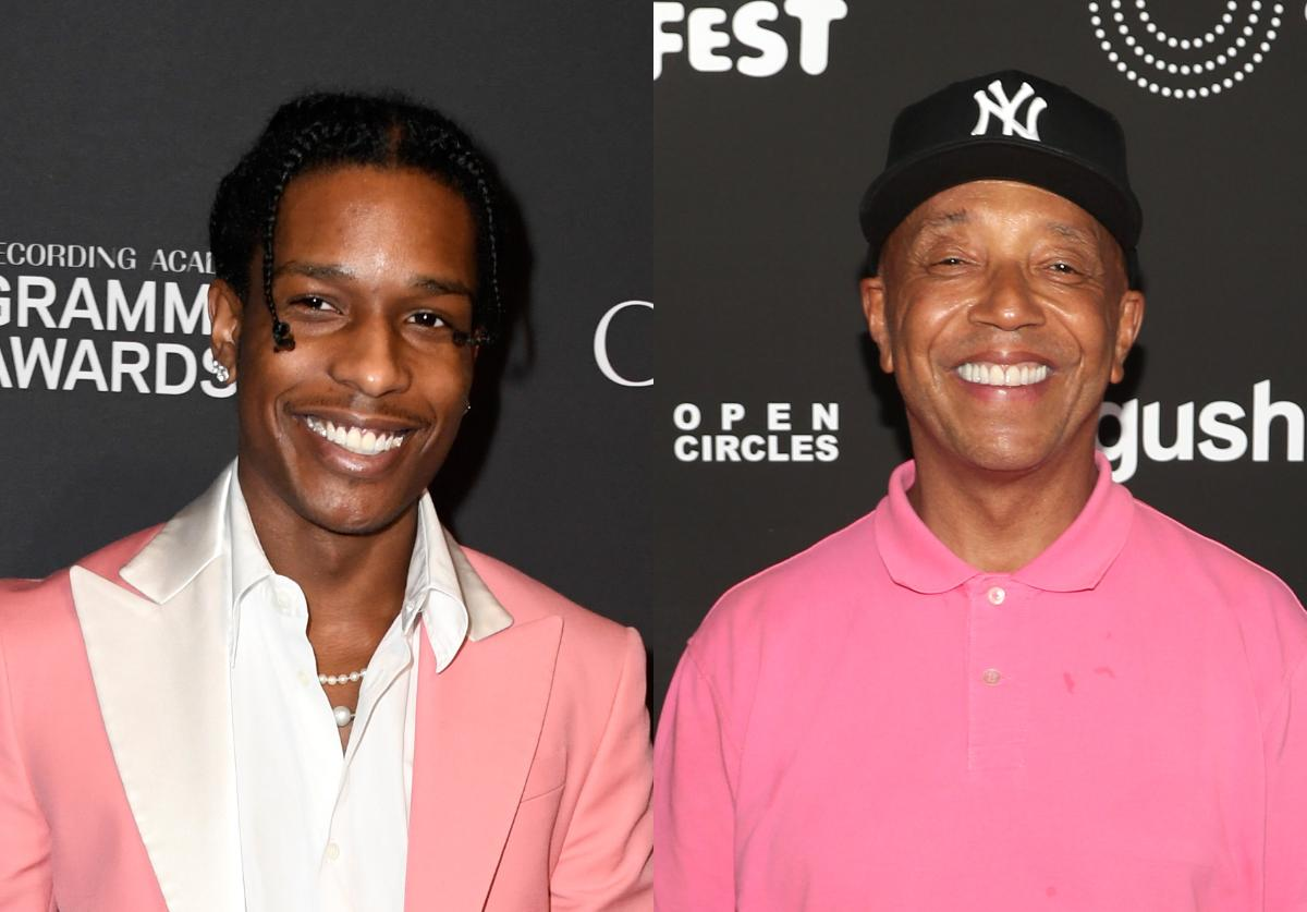 A$AP Rocky (Left), Russell Simmons (Right)