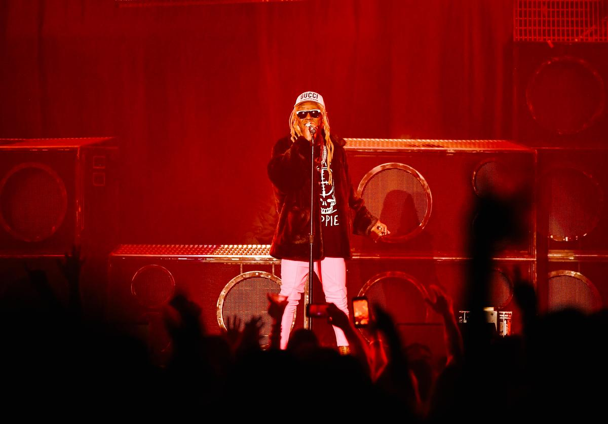 Lil Wayne performs at The Forum on August 08, 2019 in Inglewood, California