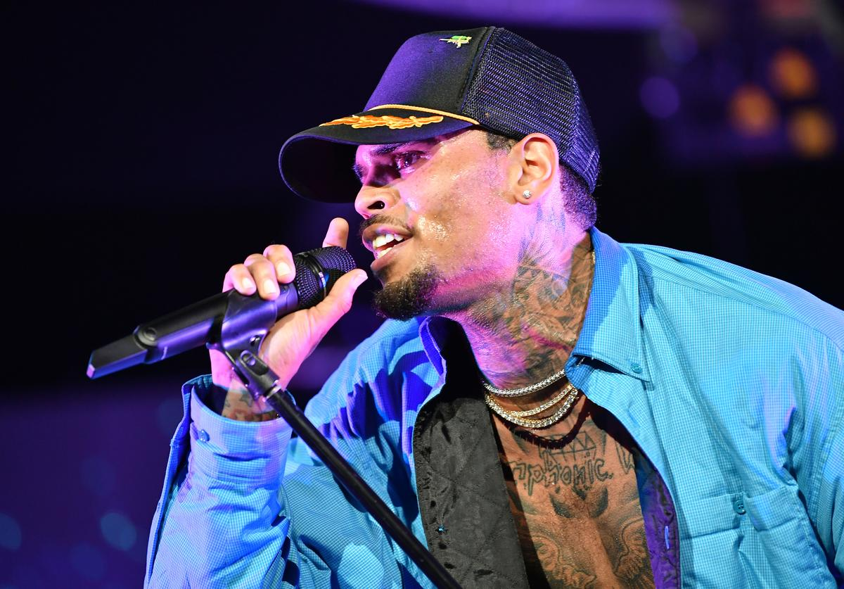 Chris Brown performs at 2018 BET Experience Staples Center Concert, sponsored by COCA-COLA, at L.A. Live on June 22, 2018 in Los Angeles, Californi