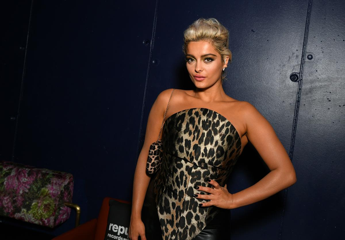 Bebe Rexha attends Republic Records Celebrates The 2019 VMAs At The Fleur Room At Moxy Chelsea on August 26, 2019 in New York City