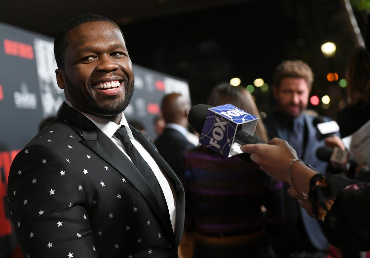 50 Cent at premiere.