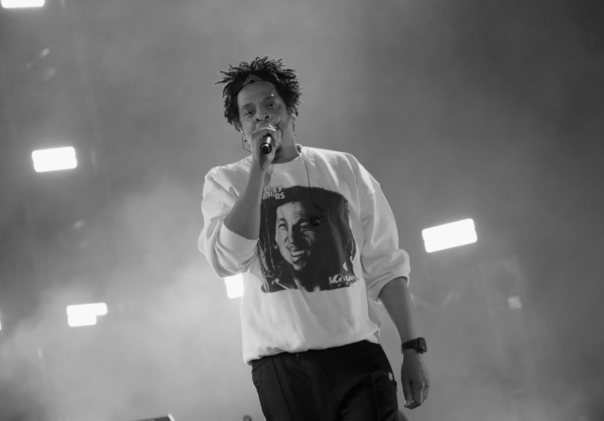 Jay-Z performs onstage at SOMETHING IN THE WATER - Day 2 on April 27, 2019 in Virginia Beach City.