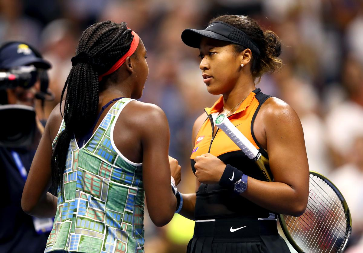 Naomi Osaka and Coco Gauff at US Open.