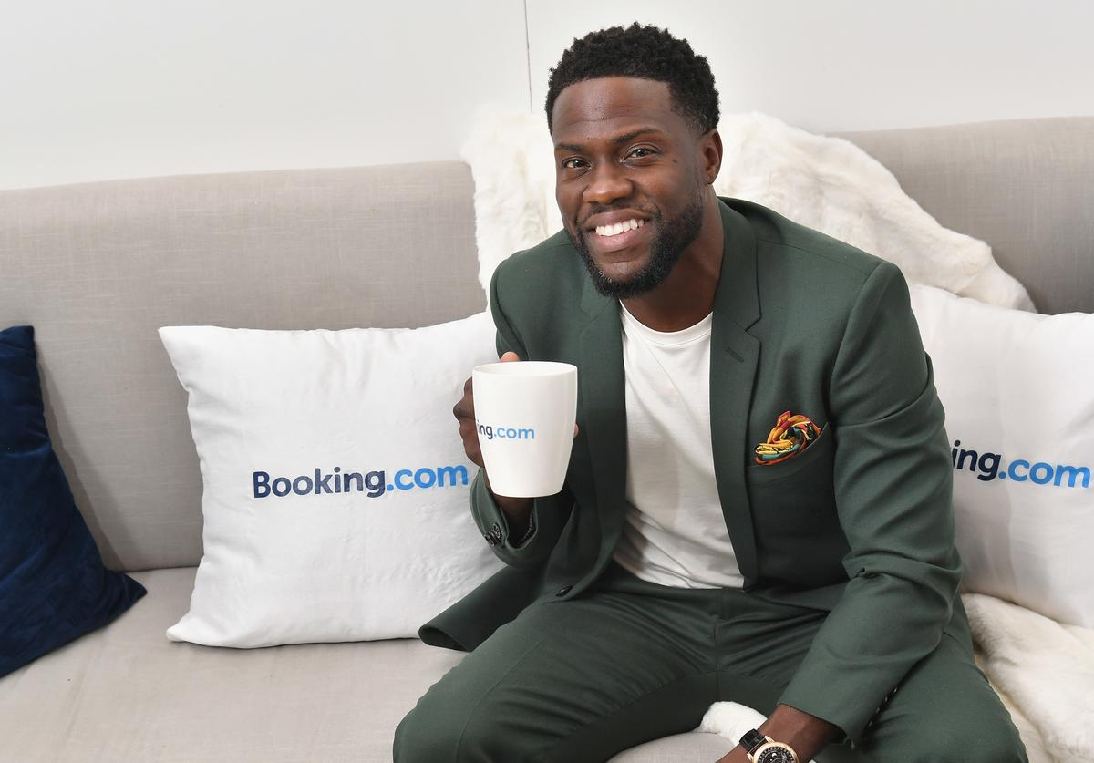 """Kevin Hart attends Booking.com's """"Tiny House With Big Personality"""" Curated By Kevin Hart on September 27, 2018 in New York City"""