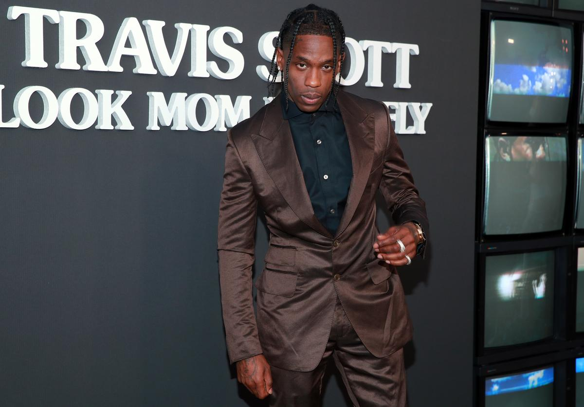 Travis Scott at his documentary premiere.