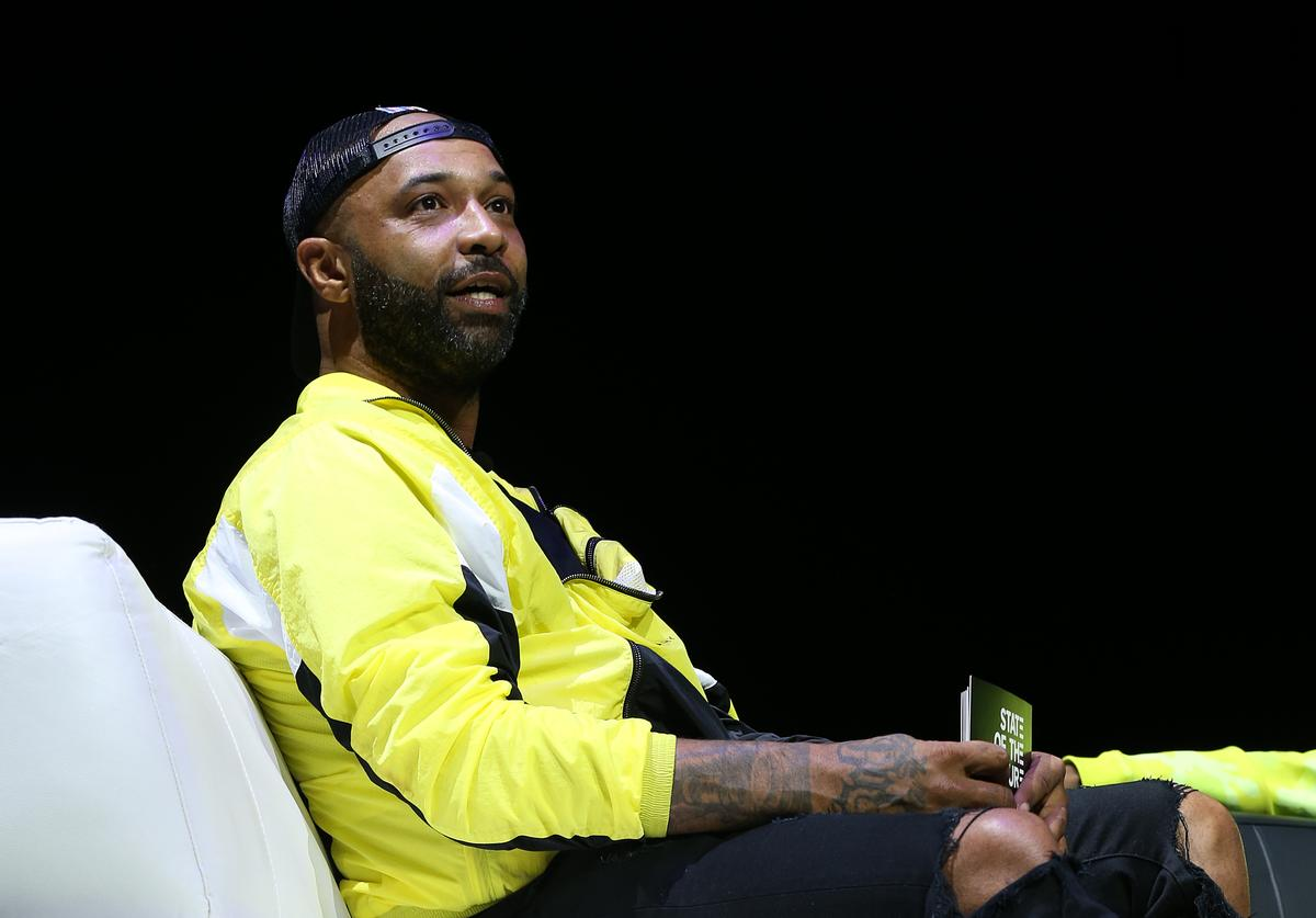 """Joe Budden speaks onstage during the REVOLT Summit Kickoff Event hosted by Sean """"Diddy"""" Combs, REVOLT, and AT&T at the Kings Theatre on July 24, 2019 in New York City"""