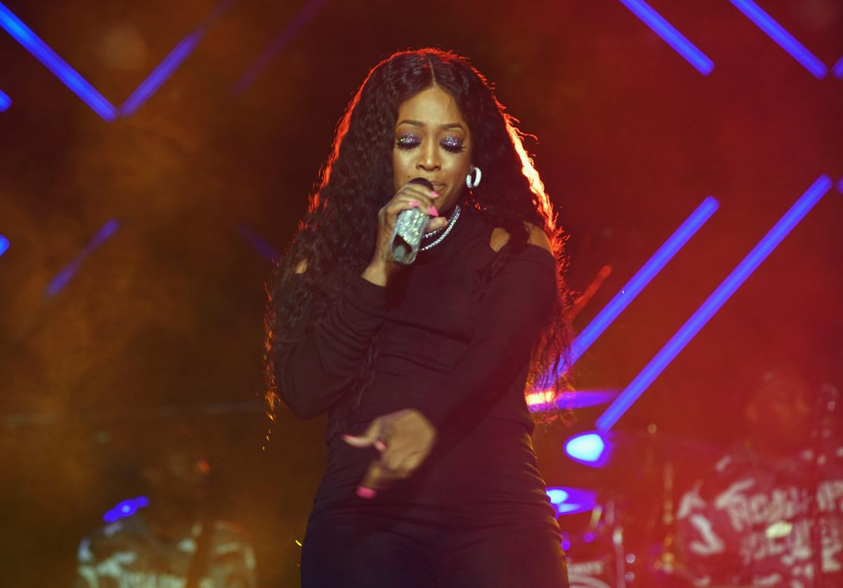 Rapper Trina performs onstage at the 2017 ESSENCE Festival Presented By Coca Cola at the Mercedes-Benz Superdome on July 2, 2017 in New Orleans, Louisiana.