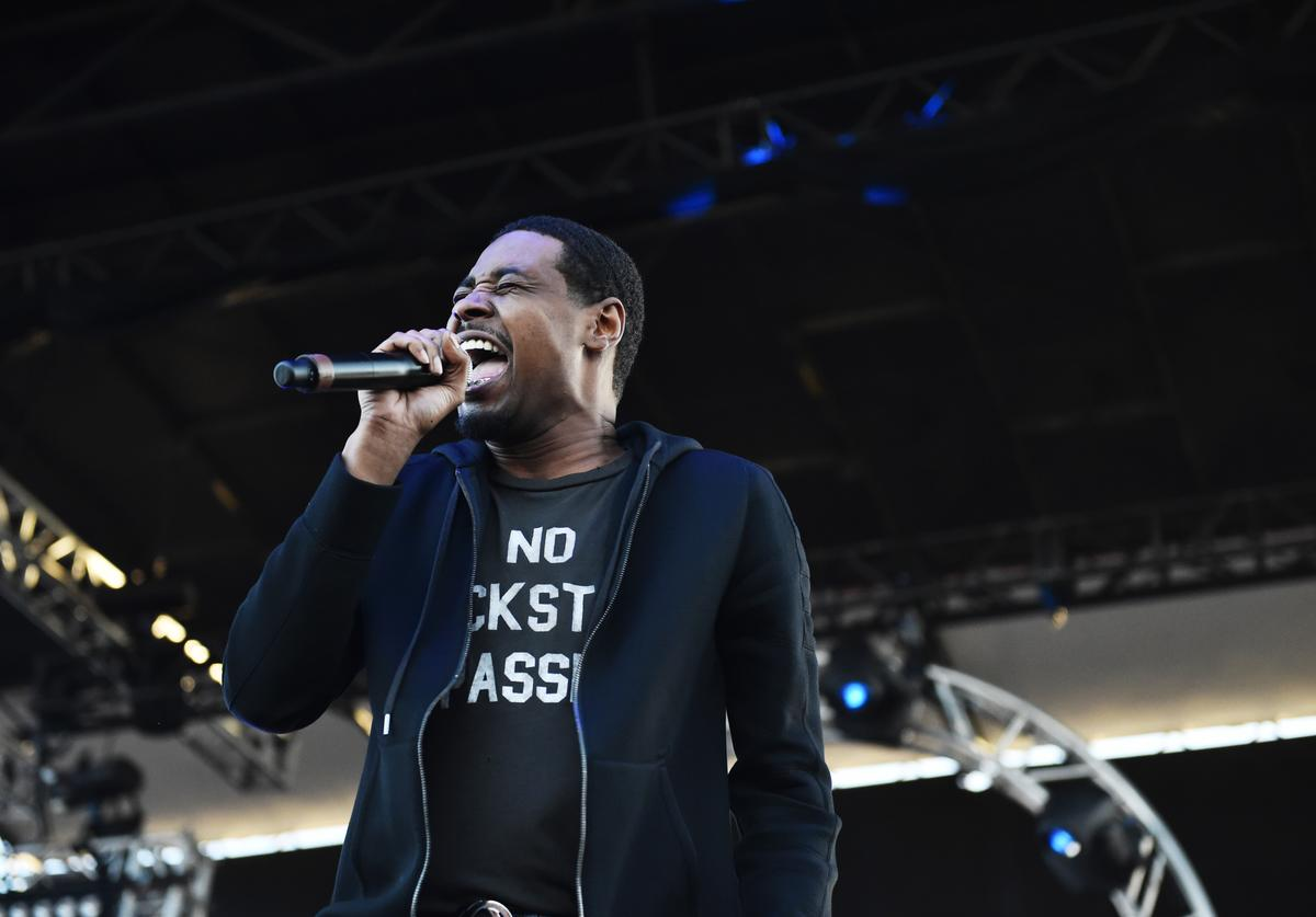 Singer Danny Brown performs at the Growlers 6 festival at the LA Waterfront on October 28, 2017 in San Pedro, California