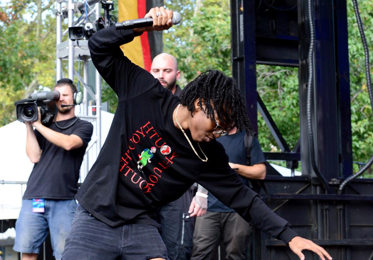 Lil Tecca performs onstage during Made In America - Day 2 at Benjamin Franklin Parkway on September 01, 2019 in Philadelphia, Pennsylvania