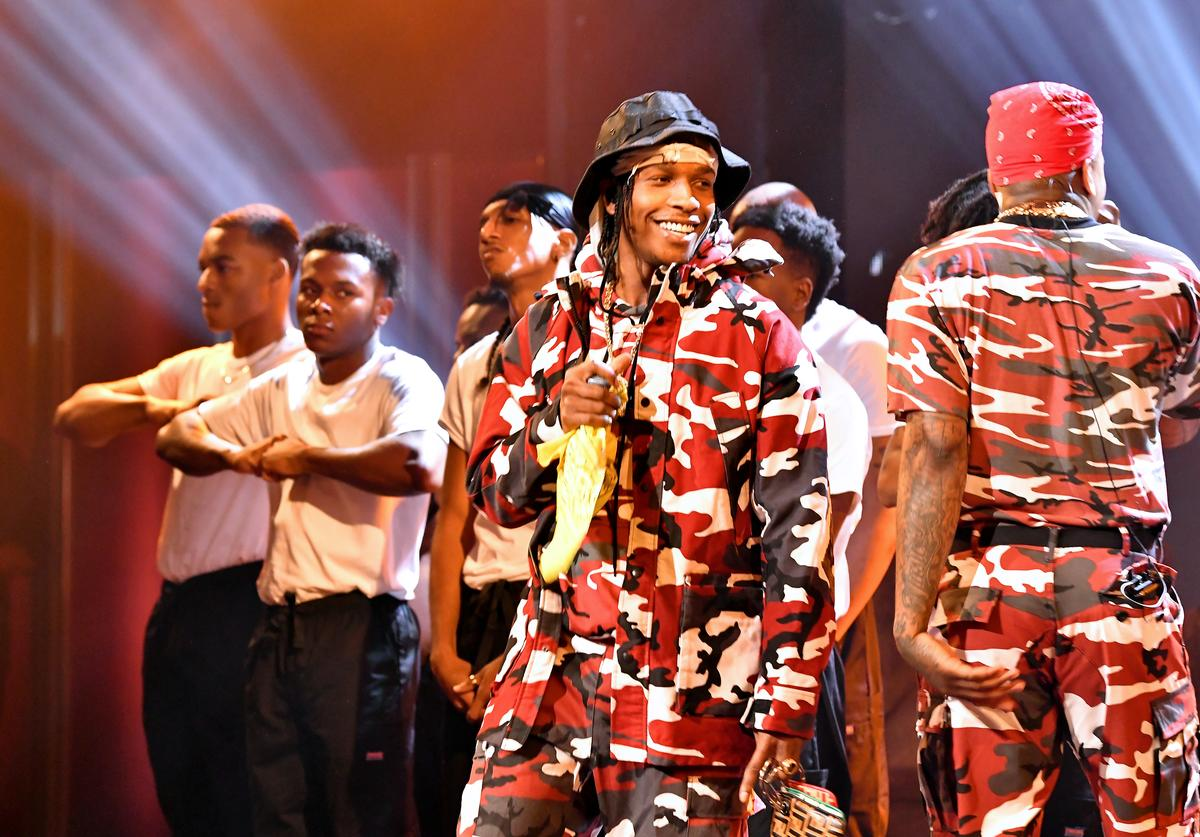 ASAP Rocky performs onstage during the BET Hip Hop Awards 2018 at Fillmore Miami Beach on October 6, 2018 in Miami Beach, Florida.