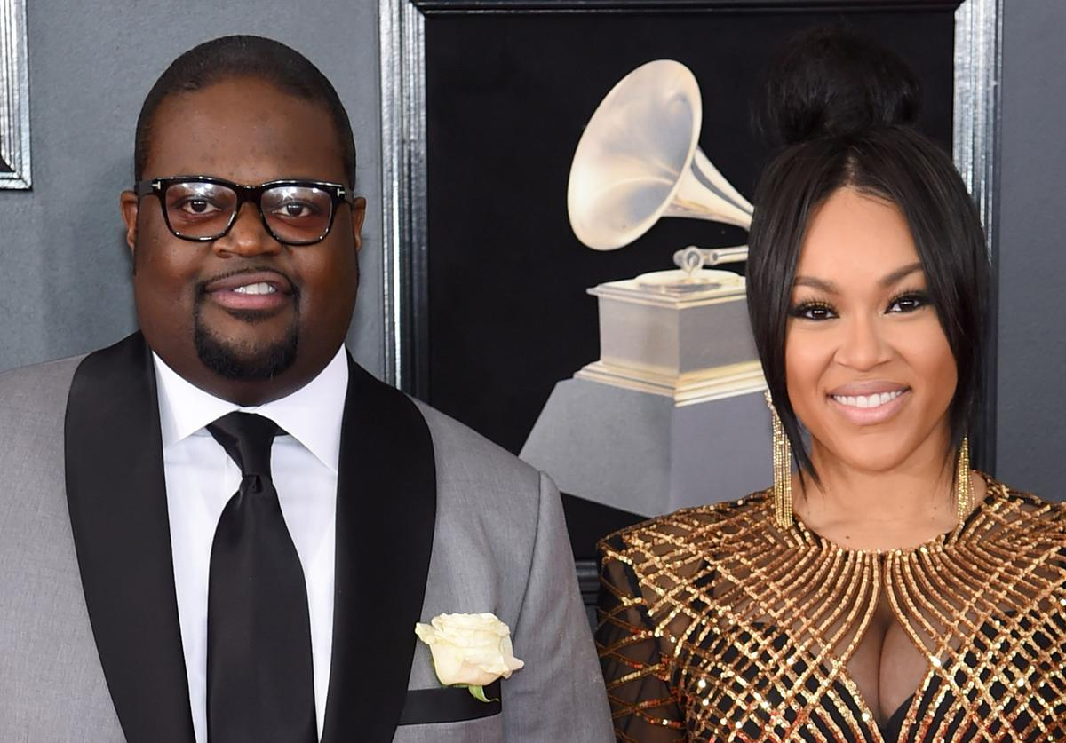 Songwriter and record producer PooBear (L) attends the 60th Annual GRAMMY Awards at Madison Square Garden on January 28, 2018 in New York City.