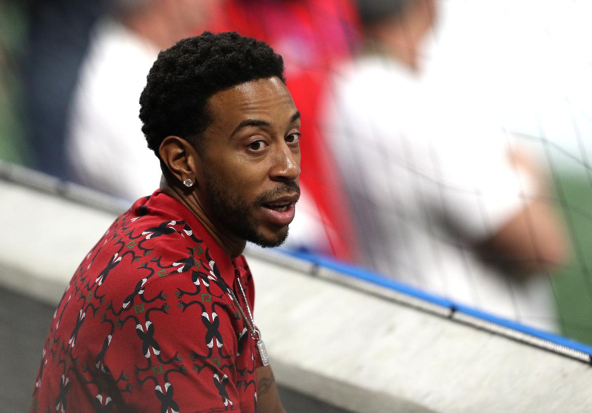 Ludacris attends Super Bowl LIII between the Los Angeles Rams and the New England Patriots at Mercedes-Benz Stadium on February 03, 2019 in Atlanta, Georgia.