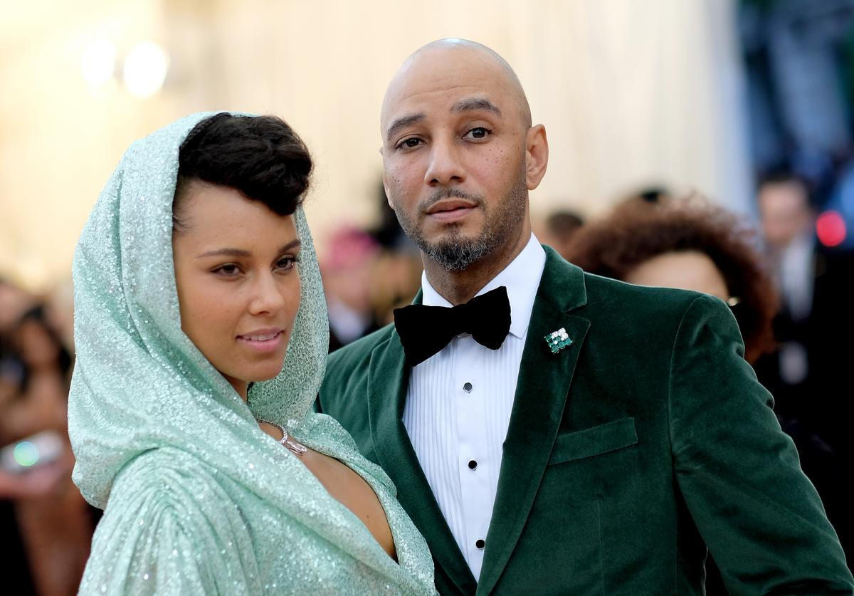 Alicia Keys and Swizz Beatz attends The 2019 Met Gala Celebrating Camp: Notes on Fashion at Metropolitan Museum of Art on May 06, 2019 in New York City.