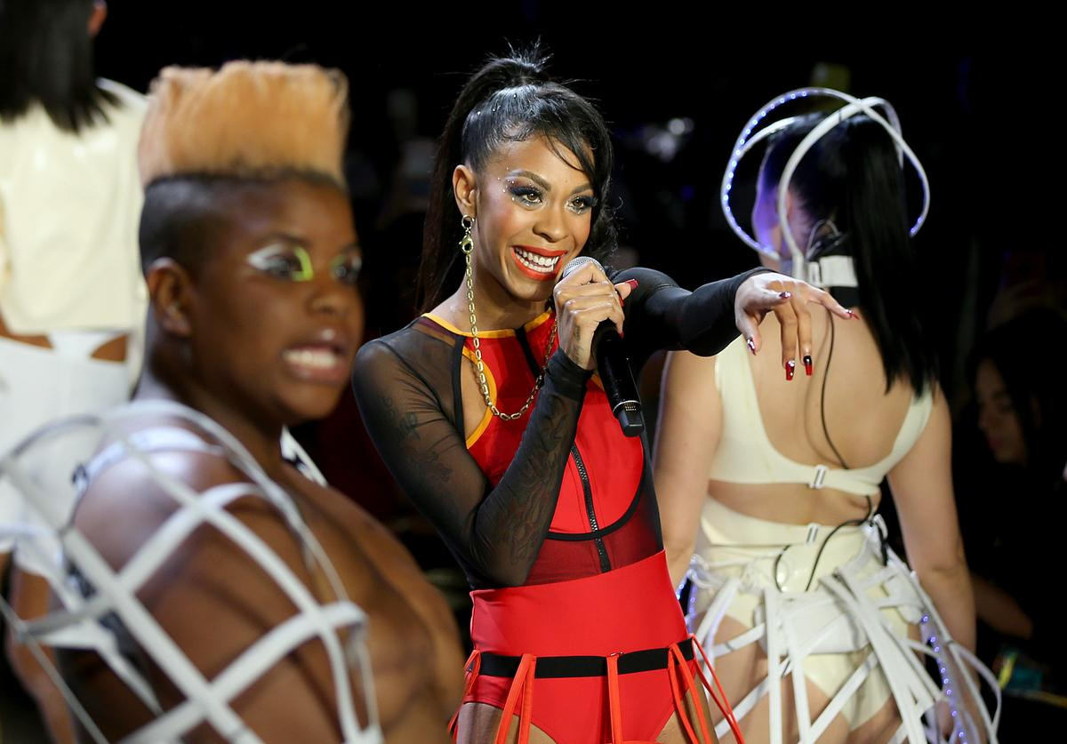 Rico Nasty at Chromat's NYFW Show.