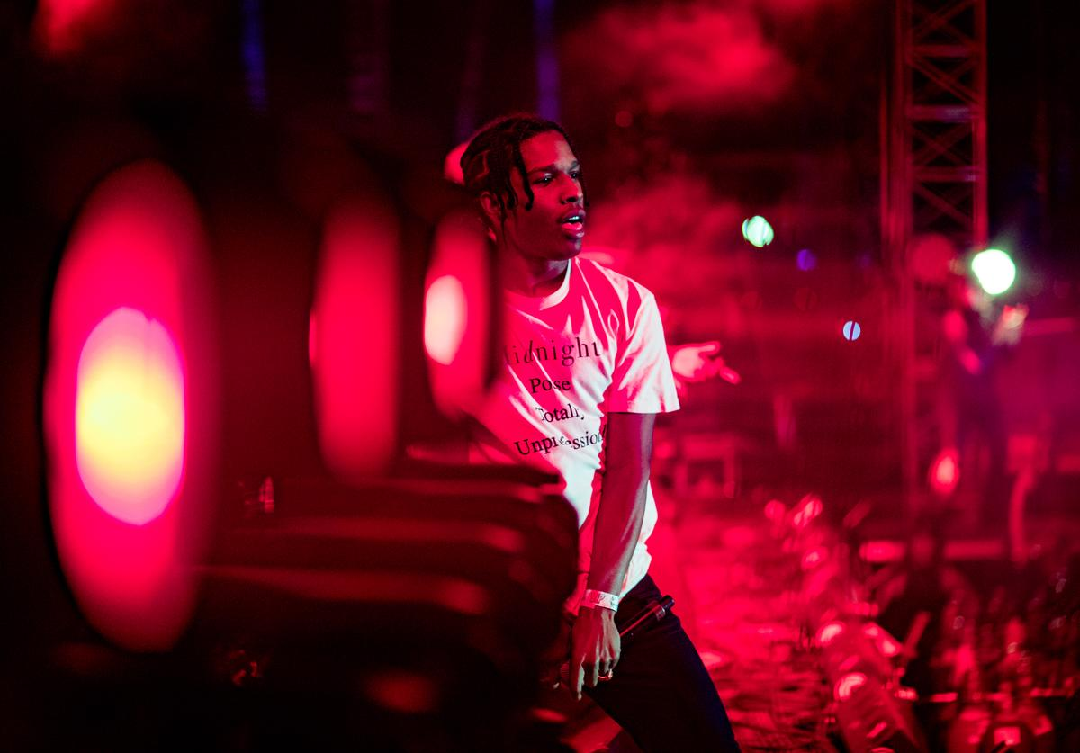 ASAP Rocky performs onstage during 2016 Coachella Valley Music And Arts Festival at the Empire Polo Field on April 22 2016 in Indio, California