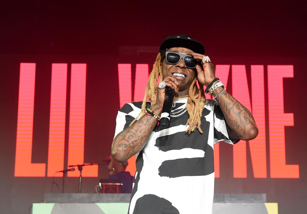 "Lil Wayne performs onstage during BACARDI, Swizz Beatz and The Dean Collection bring NO COMMISSION back to Miami to celebrate ""Island Might"" at Soho Studios on December 9, 2017 in Miami, Florida"