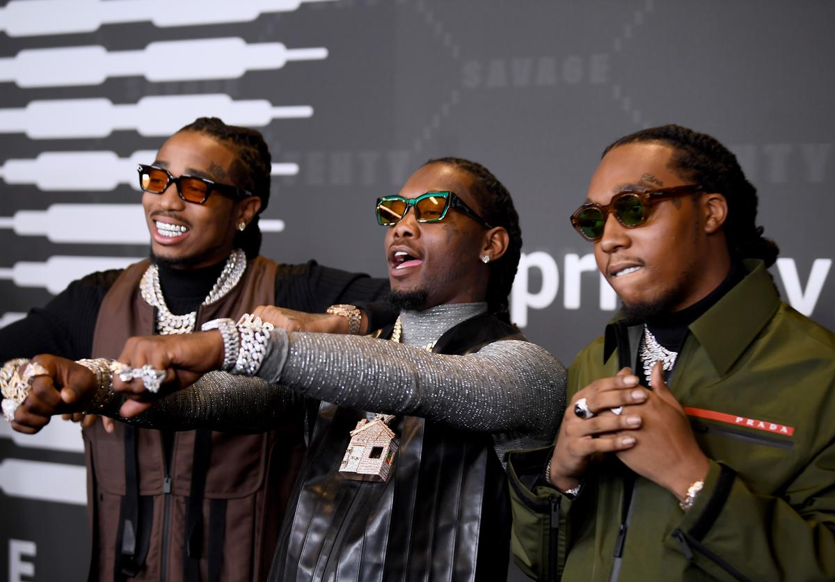 Quavo, Offset, and Takeoff of Migos attend Savage X Fenty Show Presented By Amazon Prime Video - Arrivals at Barclays Center on September 10, 2019 in Brooklyn, New York